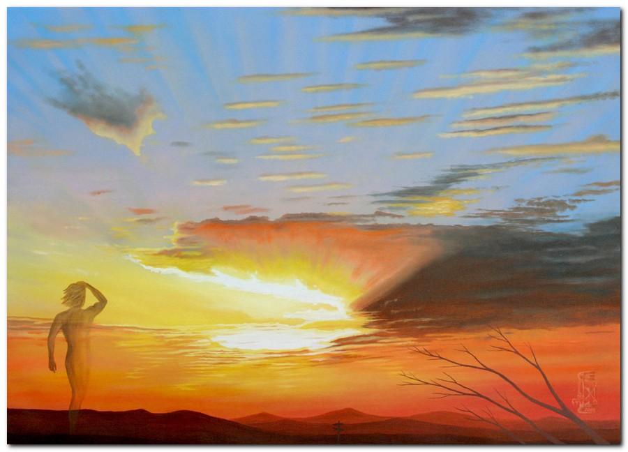 Silvano poggiani quadri moderni dipinti con cieli e for Dipinti ad olio moderni